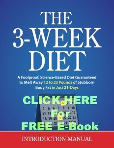 3 Week Diet Free E-Book